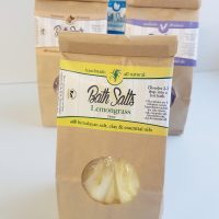 All Natural, Hadmade Lemongrass Bath Salts, Soak by Amish Country Essentials