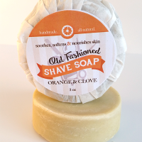 All Natural, Handmade, Orange Clove Shave Soap 3oz