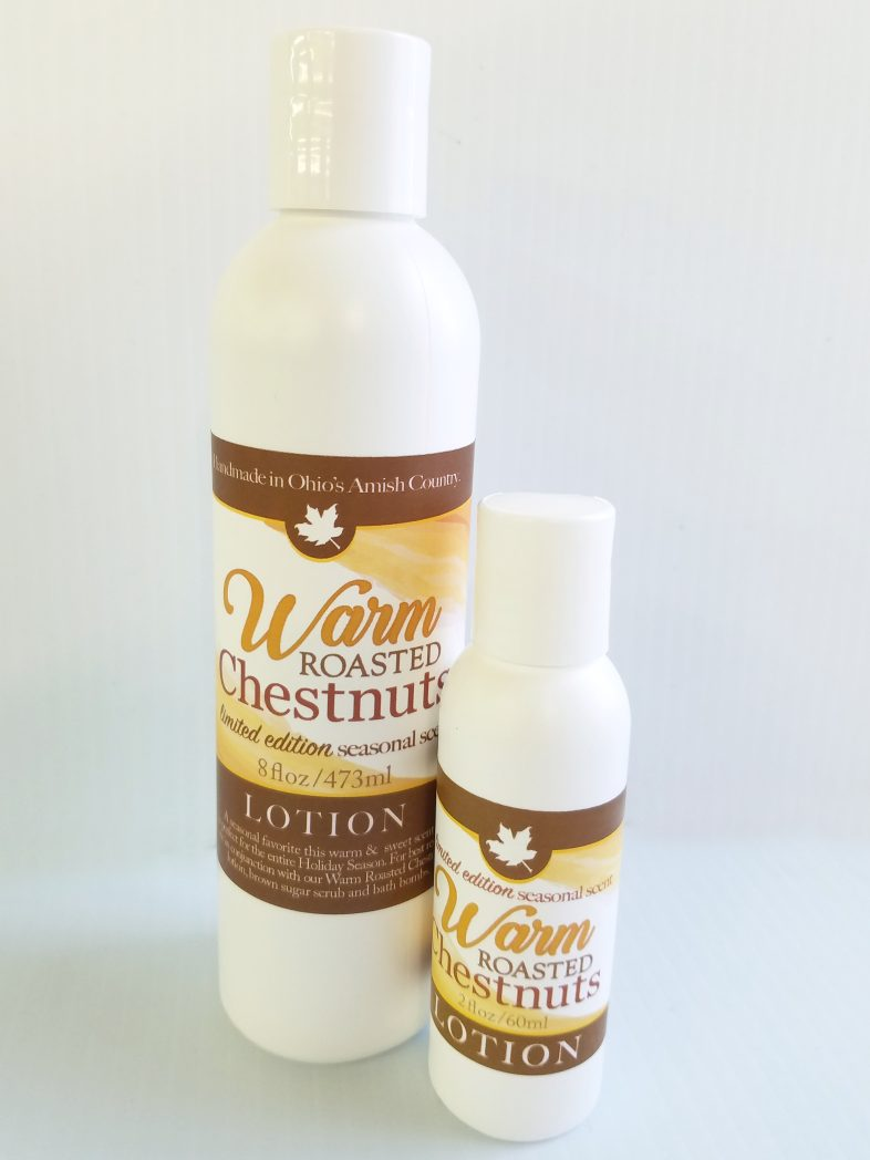 Warm Roasted Chestnuts, All natural skincare, from Amish Country