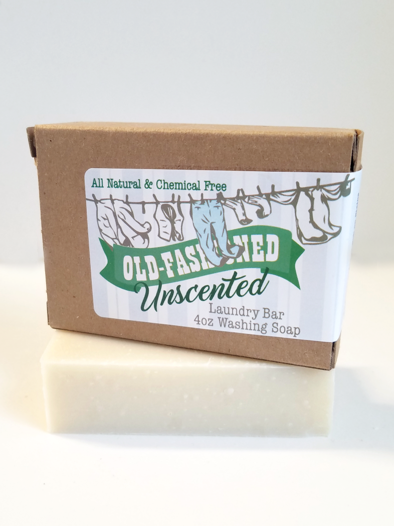 Old Fashioned Laundry Bar Unscented 4oz Amish